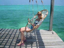Laura at Ambergris Caye, Belize