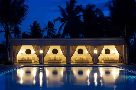 Baraza-beach-&-spa--pool-at-night