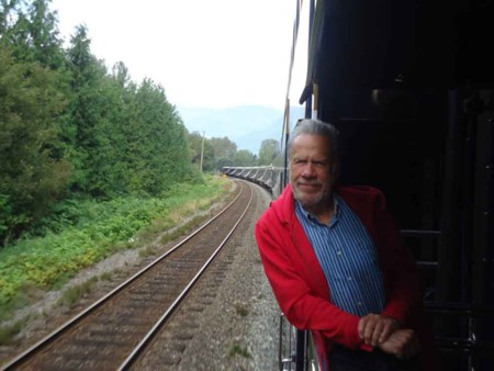 David W Canada Fam 2012, David on the train