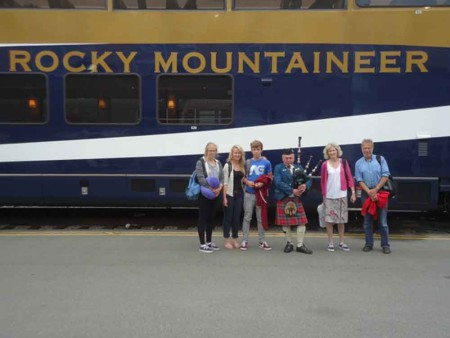David W Canada Fam 2012, Infront of the rocky mountaineer