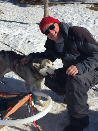 The Yukon blog, David M - playing with huskies