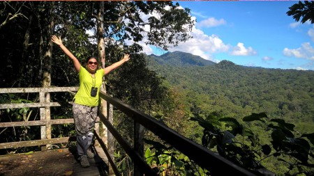 Ayesha-Borneo-blog,-Mount-Danum,-Borneo-Rainforest-Lodge-viwepoint,-Danum-Valley