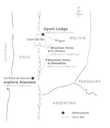Explora Travesía route Atacama to Uyuni